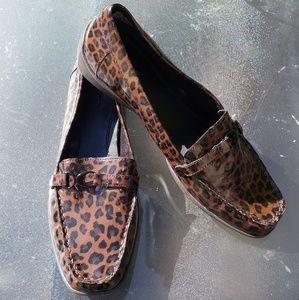 Croft & Barrow womens leopard print loafer sz 9.5